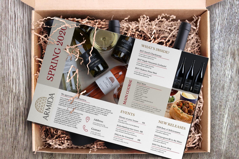 Armida Wine Club Brochure
