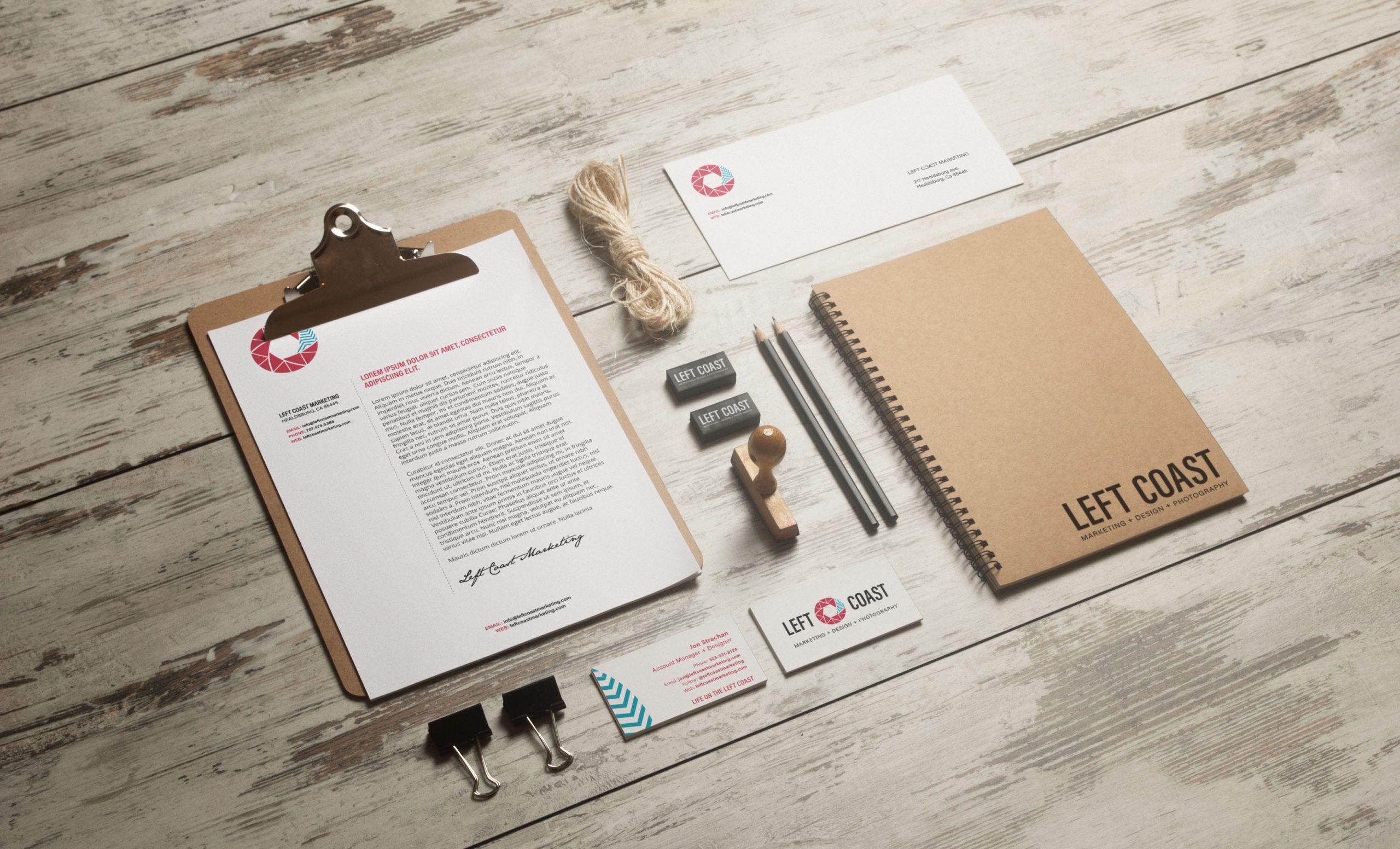 LCM Stationery Branding Mockup